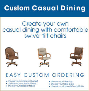 Swivel-Tilt Dining Chairs  sc 1 st  Dinette Depot & Dinette Depot - Custom Order Swivel-Tilt Furniture - Brookfield ...